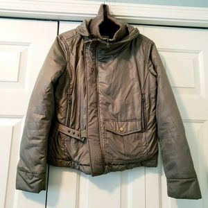 Diesel Olive Green Puff Down Winter Coat Bomber